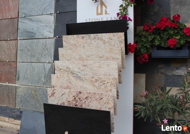 Płytki kamienne granitowe podłogowe jasne Ivory Brown