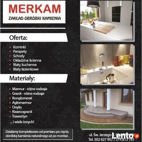 MERKAM-Granit, Marmur, Konglomerat, blaty kuchenne, schody