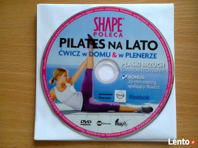 Ćwiczenia odchudzające DVD SHAPE Pilates na lato ćwicz wdomu