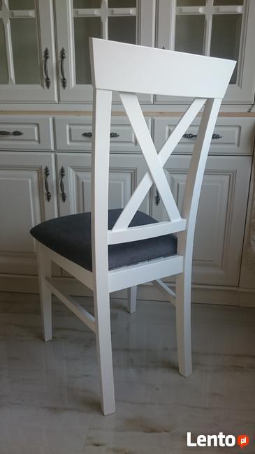 Krzesło krzesła tapicerowane Krzyż prowansalskie białe nowe