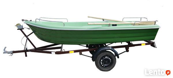 Łódka 4 os. + przyczepka z homologacją zestaw od producenta