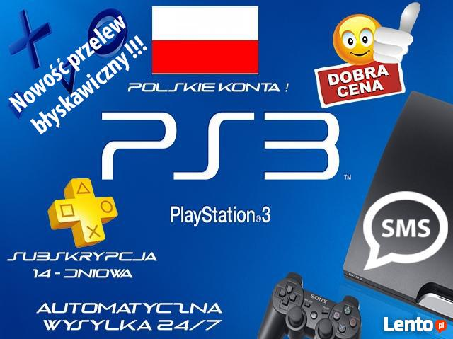 PLAYSTATION PLUS 14 DNI PS3 PS4 PS VITA SMS PRZELEW !!!