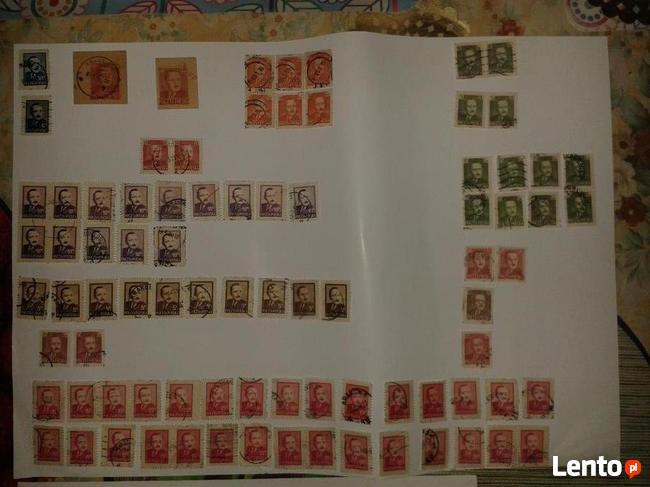 Znaczki pocztowe z Bierutem różne. Prawie 100 szt