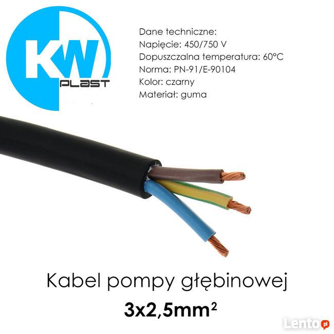 Kabel pompy głębinowej 3x2,5mm²