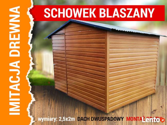 Domek blaszany schowek garaż drewnopodobny 2,5x2