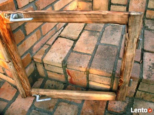Stara rama okienna okno retro loft lustro, zdjęcia 60x55