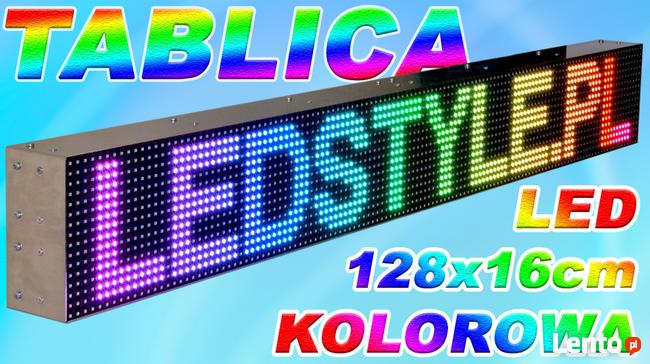 Bardzo dobra Tablica LED Reklama kolorowa 128x16 cm Wyświetlacz Ekran LED Wrocław KC41