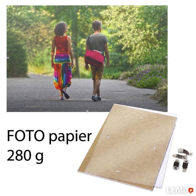 Zdjęcie w antyramie A4 papier błyszczący fotograficzny