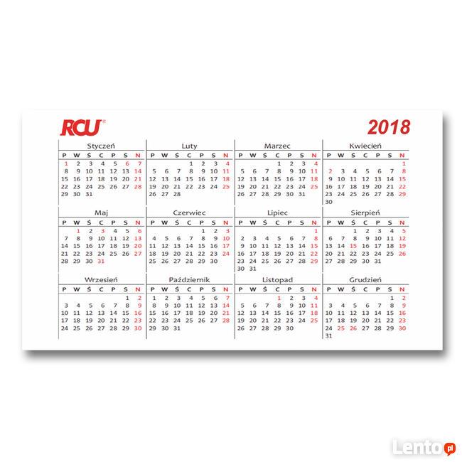 PROJEKT WIZYTÓWKI DWUSTRONNEJ z informacjami i kalendarzem