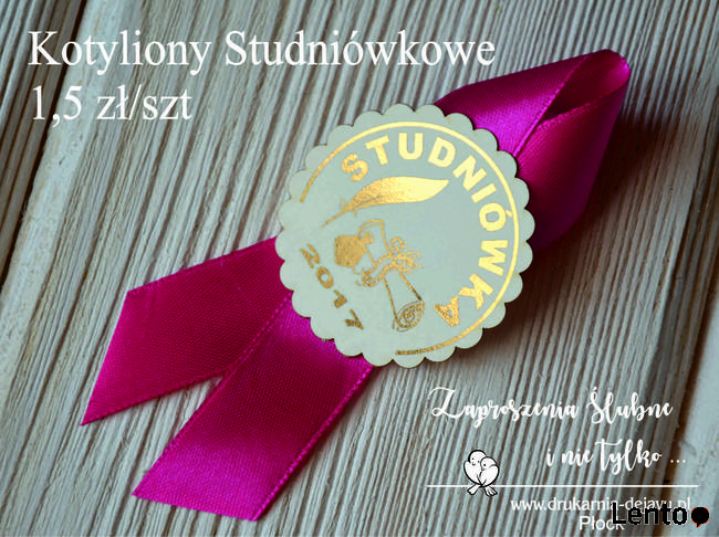Kotyliony Studniówkowe Zaproszenia Studniówka Warszawa