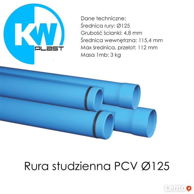 Rury studzienne gwintowane PCV Ø125 - PRODUCENT