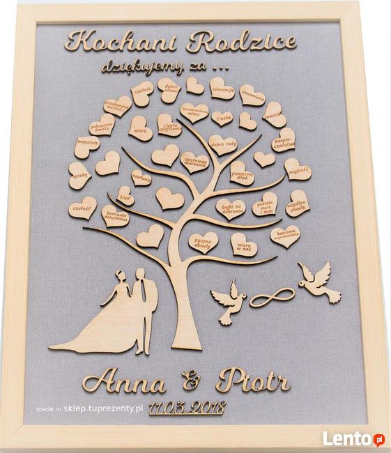 Podziękowania Dla Rodziców Drzewko ślub Prezenty
