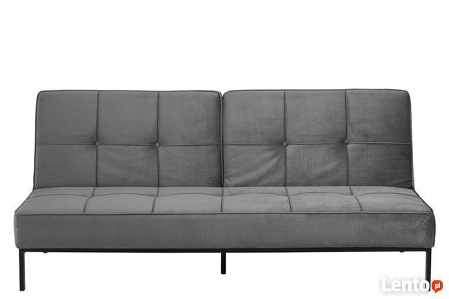 Sofa welurowa szara - wypoczynek - kanapa