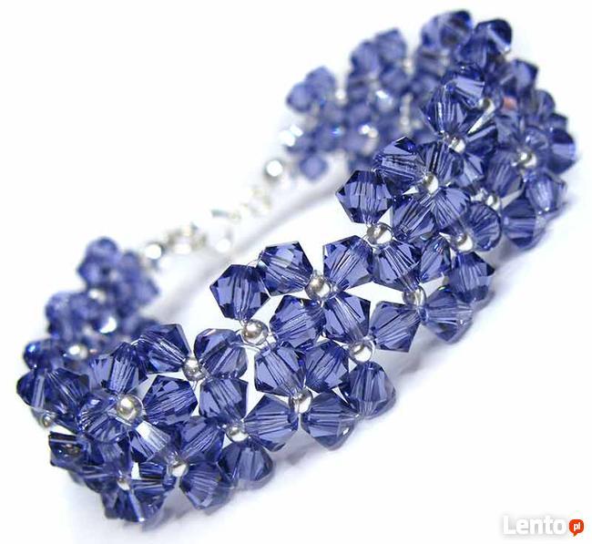 kryształy Swarovski - Efektowna bransoletka
