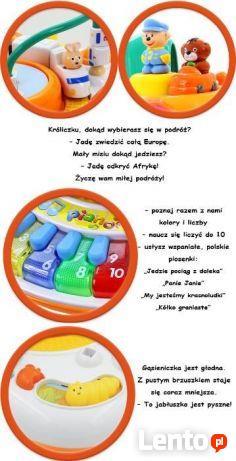 Interaktywny Stolik Edukacyjny Muzyczny Pociąg 4w1 POLSKA WE