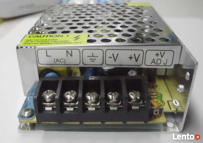 Zasilacz do sterowników schodowych taśm LED 12V 5A lub 8,5A