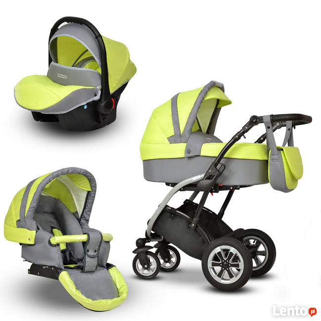 Tani Wózek dziecięcy Elmo Coneco 3w1 z fotelikiem