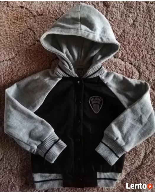 Ciepła bluza z kapturem dla chłopca 98 cm ZARA