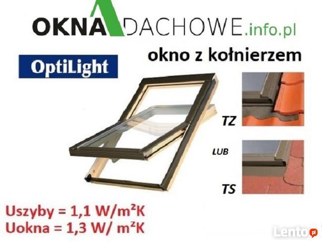 Okno dachowe 66x98 cm z kołnierzem OptiLight B CENA BRUTTO