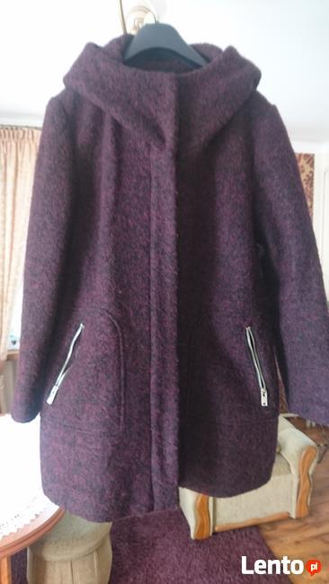płaszcz zimowy z domieszką wełny