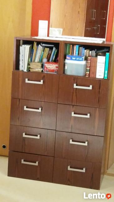 szafka z 4 szufladami i półką 2 sztuki
