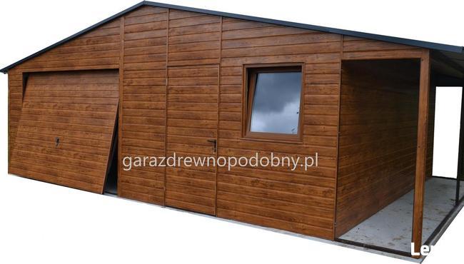 Garaż drewnopodobny 6x6. Transport i montaż gratis.