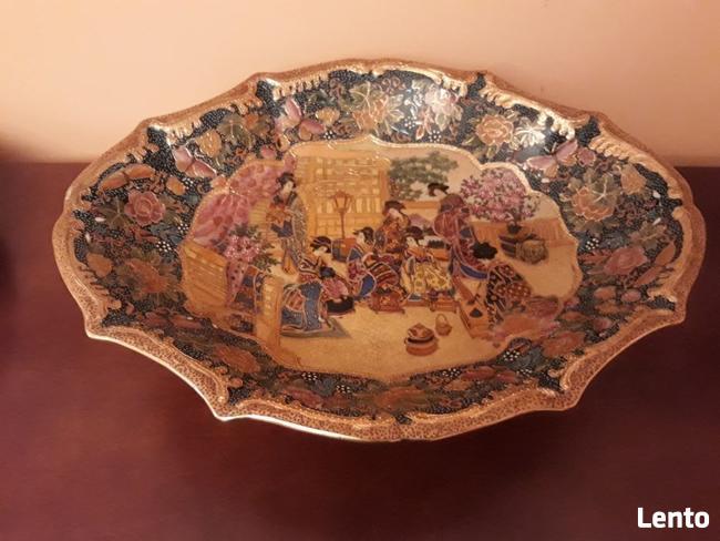 Półmisek duży chiński - ręcznie malowany