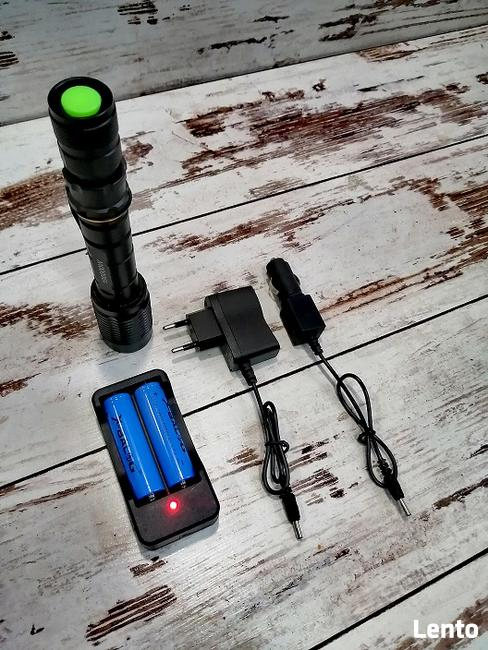 LATARKA X-BALOG TAKTYCZNA X2000 ZOOM LED + ŁADOWARKI