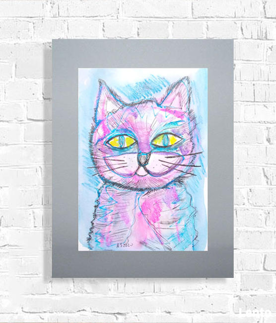 kot grafika na ścianę, obraz z kotem
