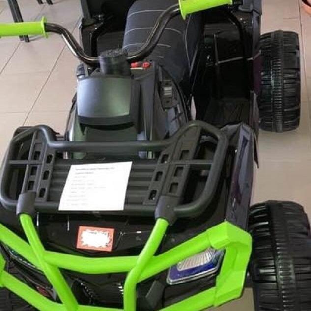 Quad Terenowy XL ATV, 24V do 45 kg Czarno Zielony