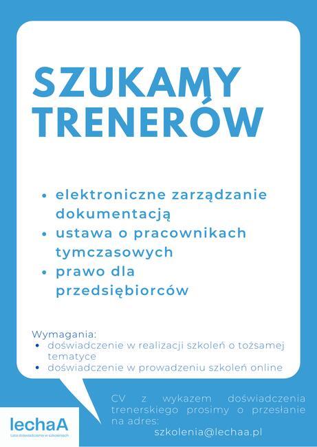 trener szkolenia online