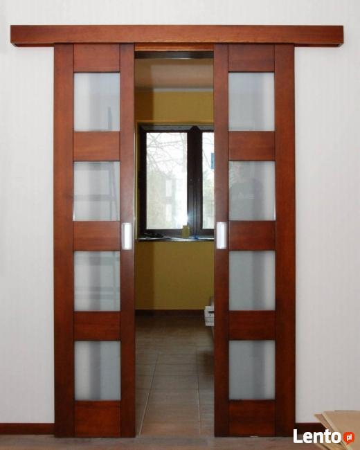 Drzwi wewnętrzne drewniane model w4