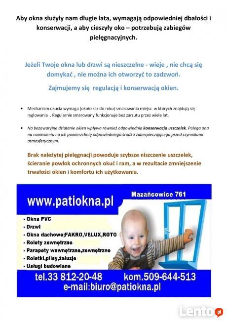 Okna regulacja,konserwacja,naprawa Bielsko-Biała