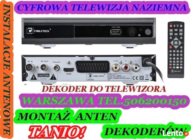Montaż anten DVB-T darmowej cyfrowej TV naziemnej w super ce