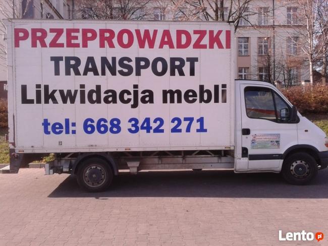 PRZEPROWADZKI Transport Likwidacja Mebli Sprzętu RTV i AGD