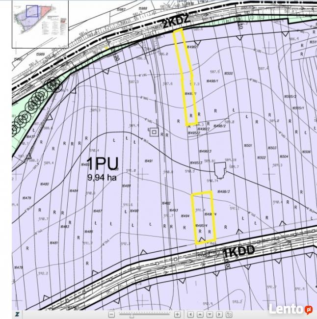 Teren zabudowy usługowo - produkcyjnej Nowy Targ