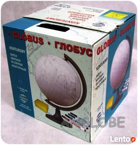 Konturowy globus 250mm podświetlany