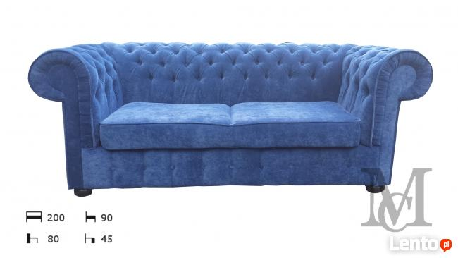 Sofa Mark Chesterfield pluszowa 3-osobowa