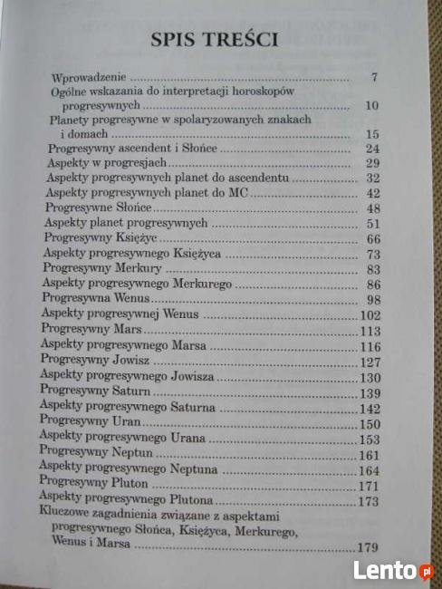 ASTROLOGIA PROGRESJE, DYREKCJE Konaszewska - Rymarkiewicz