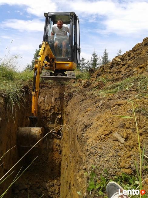 Usługi MINIKOPARKĄ drenaże zakładanie ogrodów prace
