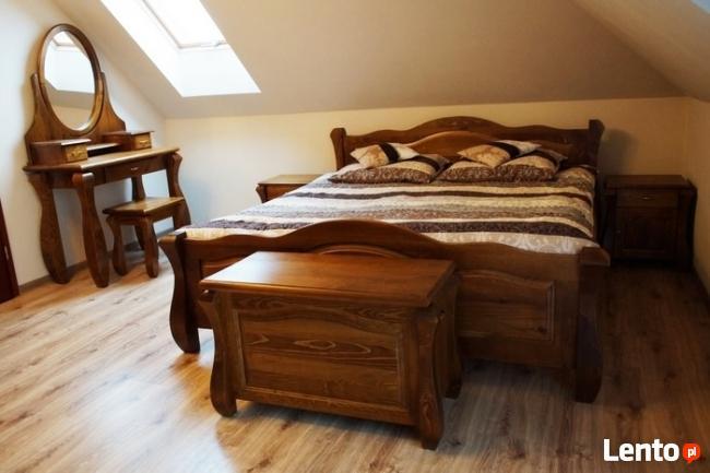 Nowe Łóżko z DREWNA 140x200 Solidne -Różne