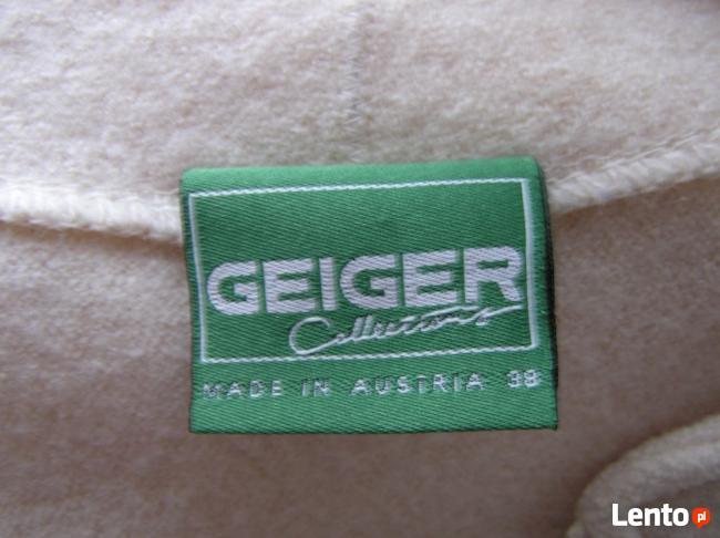 Geiger AUSTRALIJSKA WEŁNA 100% Ecri kardigan na suwak Zakiet