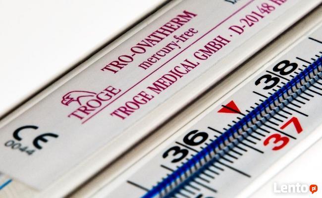 Termometr Szklany Lekarski TROGE Bezrtęciowy GERMANY