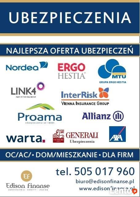Ubezpieczenia OC/AC obok Urzędu Miasta centrum Kielc