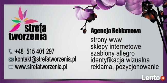 Ulotki / wizytówki / obróbka zdjęć  / hosting / strony www