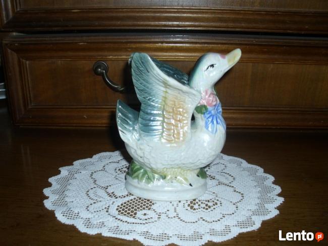 FIGURKA kaczki z porcelany