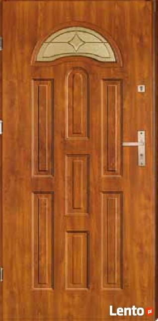 Drzwi zewnętrzne stalowe tłoczone witraż !!!