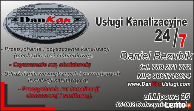 Udrażnianie kanalizacji DanKan,wuko