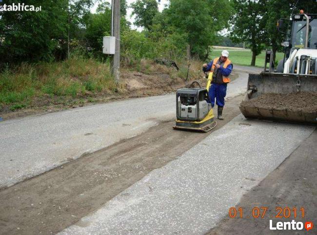 Utwardzanie korytowanie placów, budowa i utwardzanie dróg