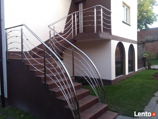 balustrady ogrodzenia schody nierdzewne aluminiowe